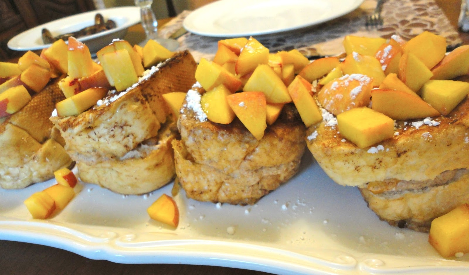 Blissful Baking: Peaches & Cream Stuffed French Toast