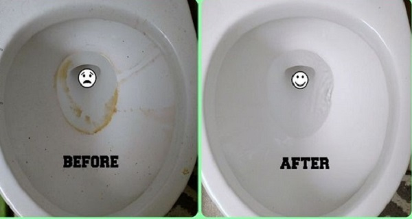 clean toilet bown without brushing