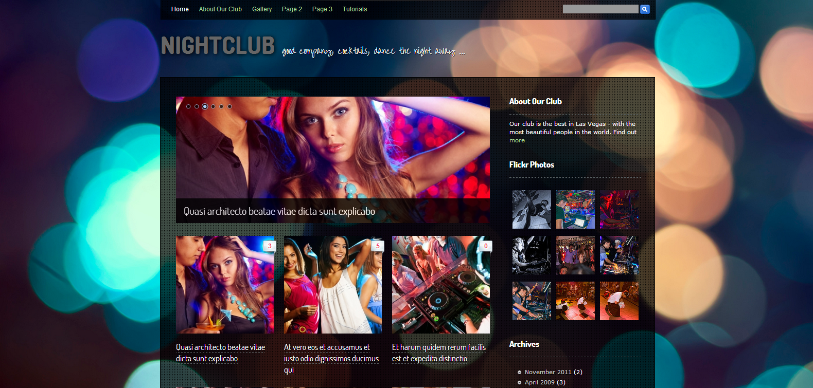 Nightclub – Professional WordPress Theme