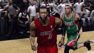 NBA 2K13 Dwyane Wade Cyberface Mod