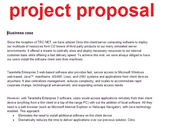 Project Proposal Letter - Template