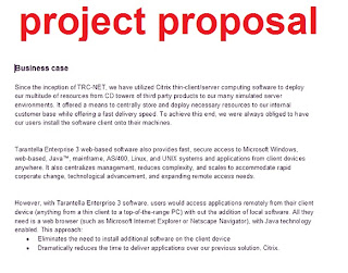 Project Proposal Template  Business Project Proposal Template