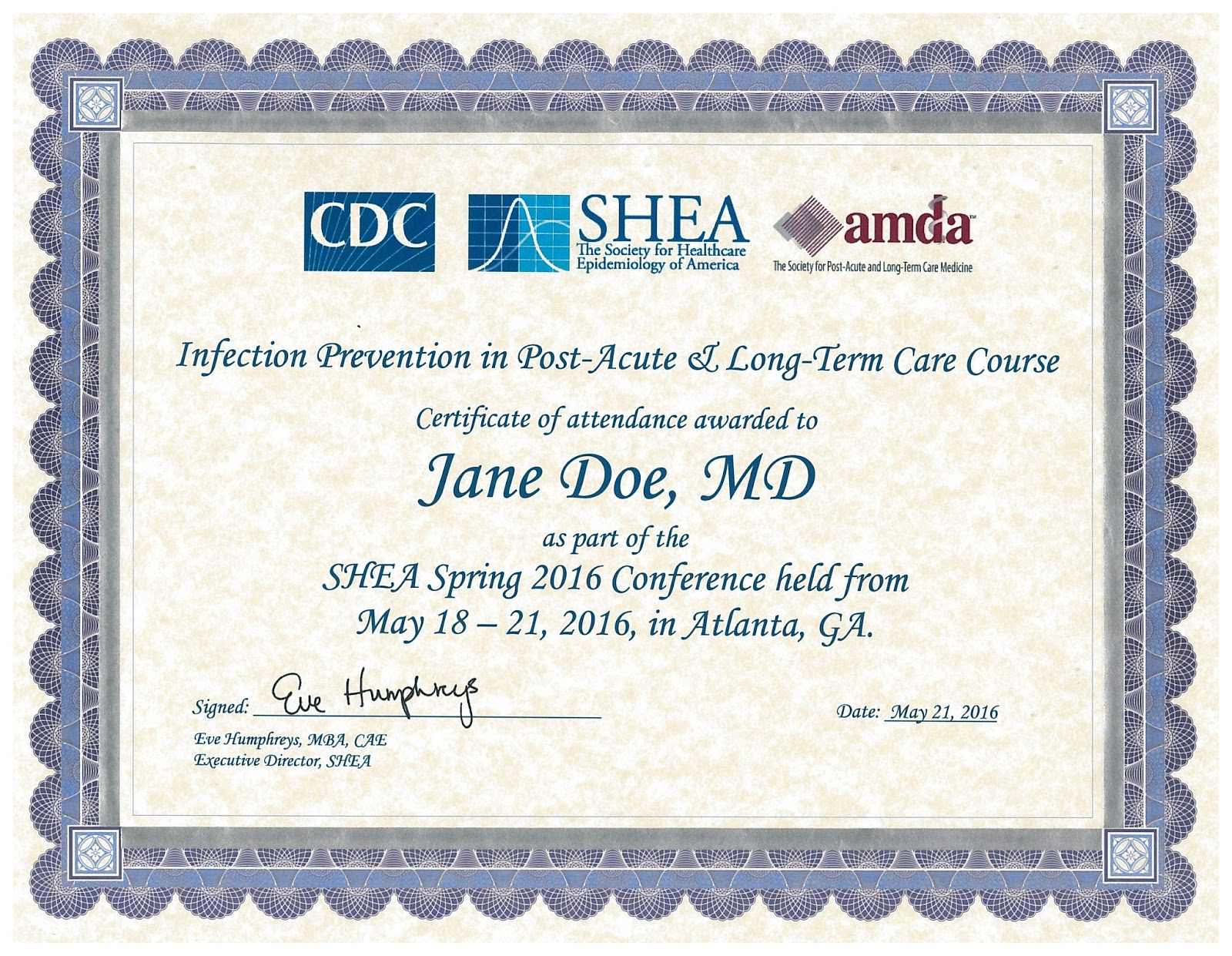 Sheacdcamda Sponsored Post Acute And Long Term Care Certificate