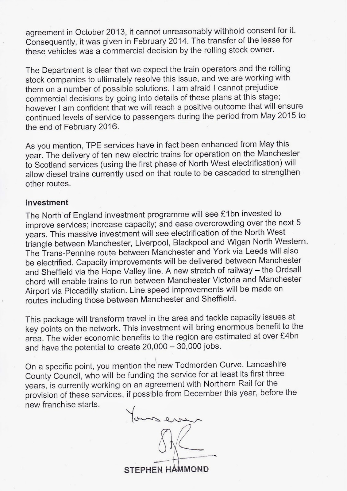Graham jones 07012014 08012014 who as the letter says in the last parapgraph will be effectively be the franchisetoc with northern providing the service for the first three years thecheapjerseys Images