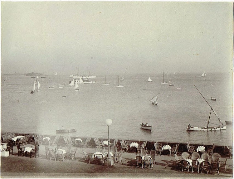 Bombay Yacht Club Terrace c1905