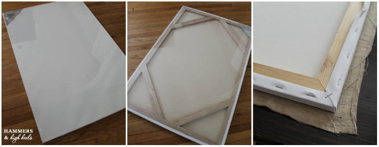 make your own canvas frame hammaers and hih heels diy