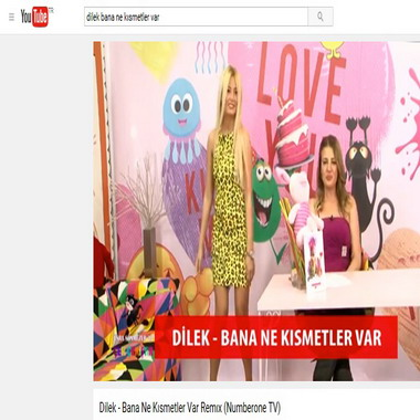 youtube com - dilek - bana ne kısmetler var - remix - numberone tv