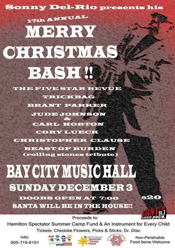Hamilton Hometown Christmas w Sonny Del-Rio & Friends @ Bay City Music Hall