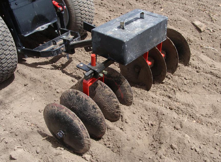 Garden Tractor Disc Attachments : Gardening garden tractor disk harrow complete