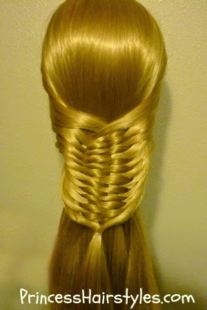 half up hairstyle, layered woven braid