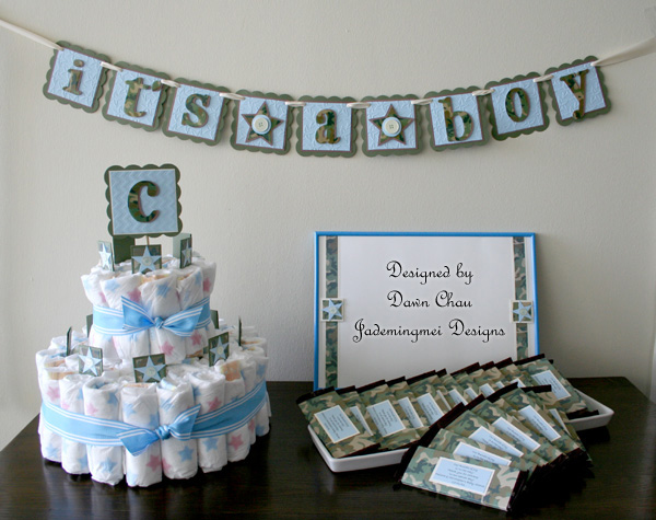 jademingmei designs camo themed baby shower