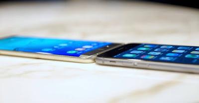 samsung galaxy  s6 edge+ Vs iphone 6 plus side