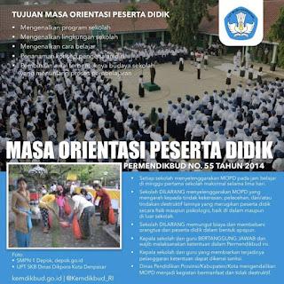 Surat Edaran Menteri Pendidikan dan Kebudayaan Republik Indonesia Nomor 59389/MPK/PD/Tahun 2015 tentang Pencegahan Praktik Perpeloncoan, Pelecehan, dan Kekerasan pada Masa Orientasi Peserta Didik Baru di Sekolah