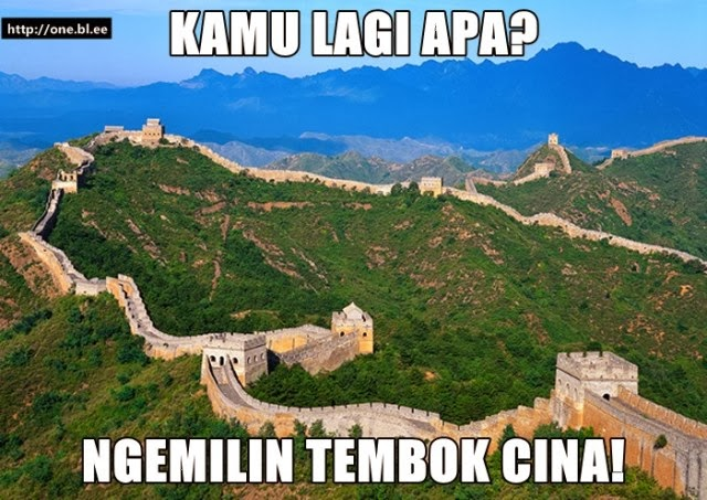 Malem Minggu Ngemilin Tembok Cina
