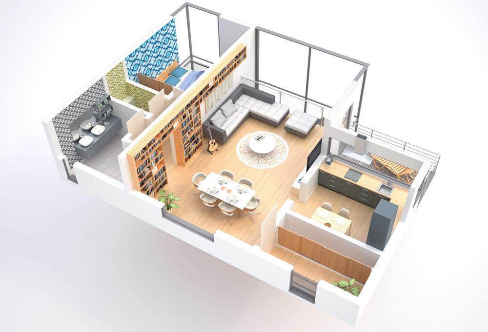 Pieter l on vermeersch 3d grondplan for 3d woonkamer maken