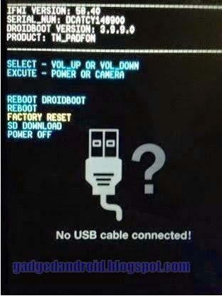 Cara Flashing Asus Zenfone 4 Versi TW-CHT