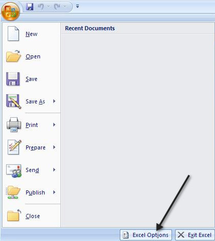 there is a problem sending the command to the program excel 2010