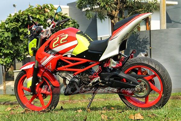 Foto Modifikasi Honda CS1 Adopsi Kaki-kaki Yamaha Byson 2014