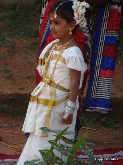 Mohiniattam dancer kids fancy dress