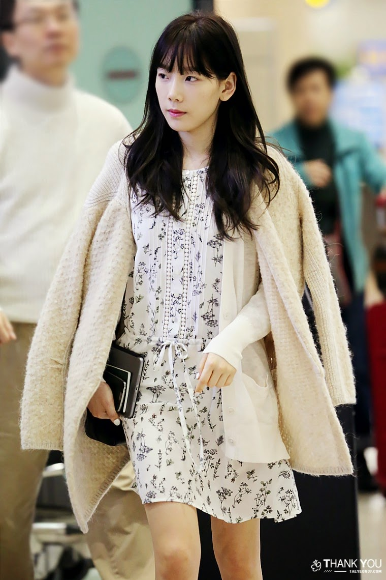 SNSD Taeyeon Airport Fashion