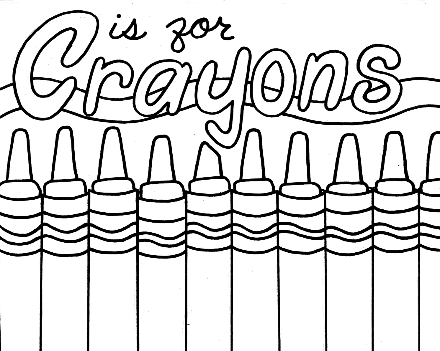 Free Coloring Pages Of Crayons Of Wood