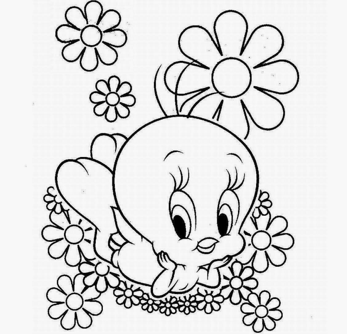 Colour Drawing Free HD Wallpapers Disney Tweety Bird