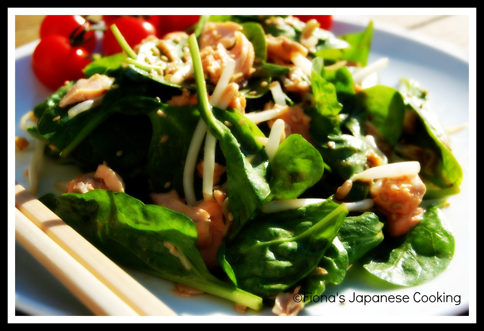 Fiona's Japanese Cooking: JAPANESE MISO SALMON SALAD RECIPE