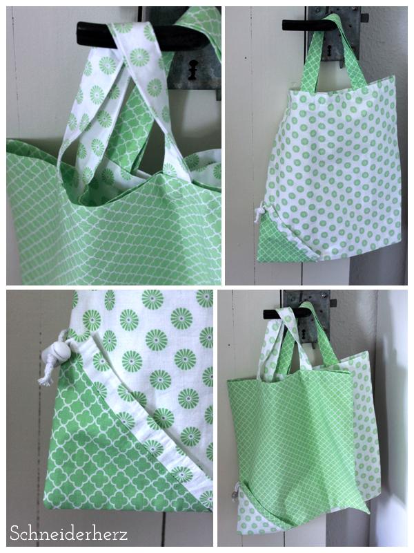 Faltbare Einkaufstasche DIY Nähen