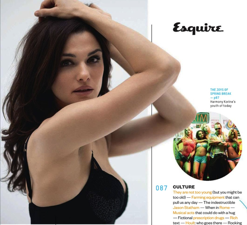 Rachel Weisz Heats Up Summer for the April 2013 Issue of EsquireRachel Weisz Esquire Cover