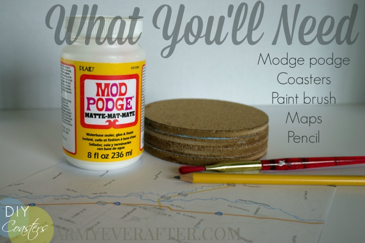 what you'll need for your DIY coasters