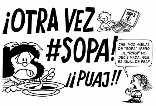 Mafalda: otra vez SOPA ¡puaj!