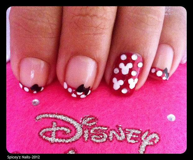 spicey' nails minnie mouse nail
