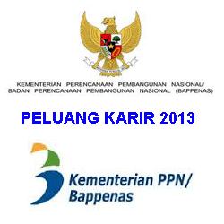 Lowongan Kerja 2013 BAPPENAS 2013 Periode Januari Tingkat S1 Bidang Ekonomi & Statistika