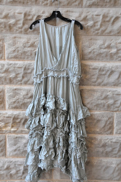Magnolia Sage Ruffled Dress   One size  $400