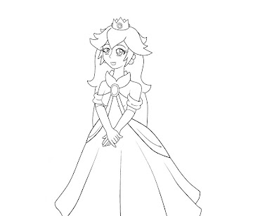 #23 Princess Peach Coloring Page