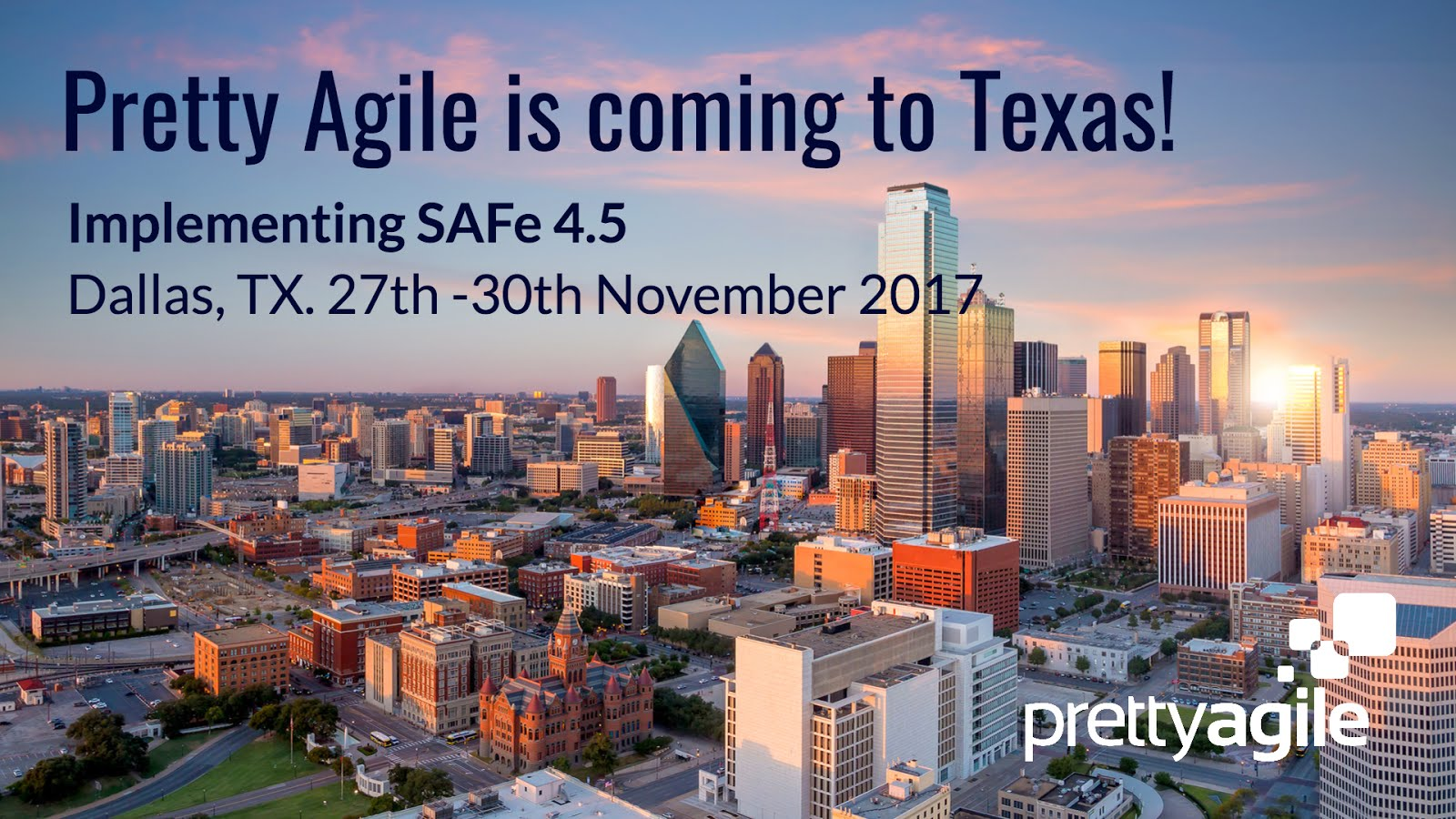 Join me for Implementing SAFe in Dallas, Tx.