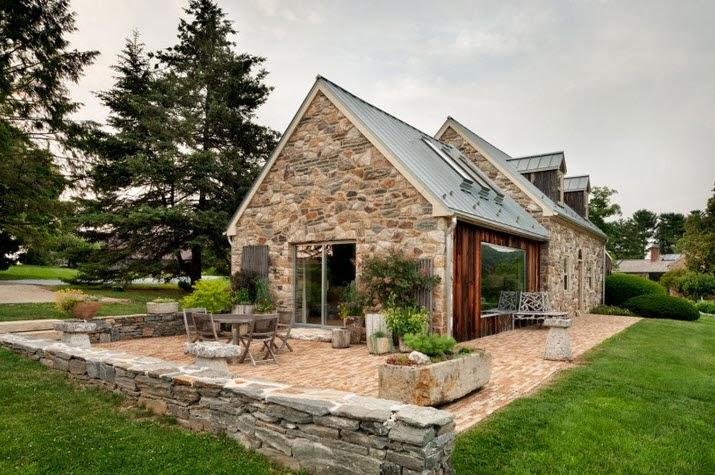 Remodelaci n de casa de piedra y madera en el campo - Casas madera y piedra ...