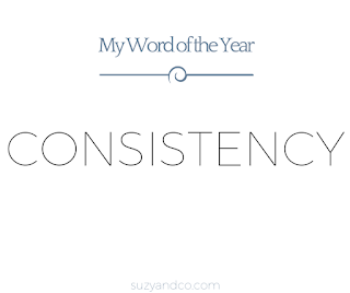 my word of the year: consistency | Suzyhomemaker.net