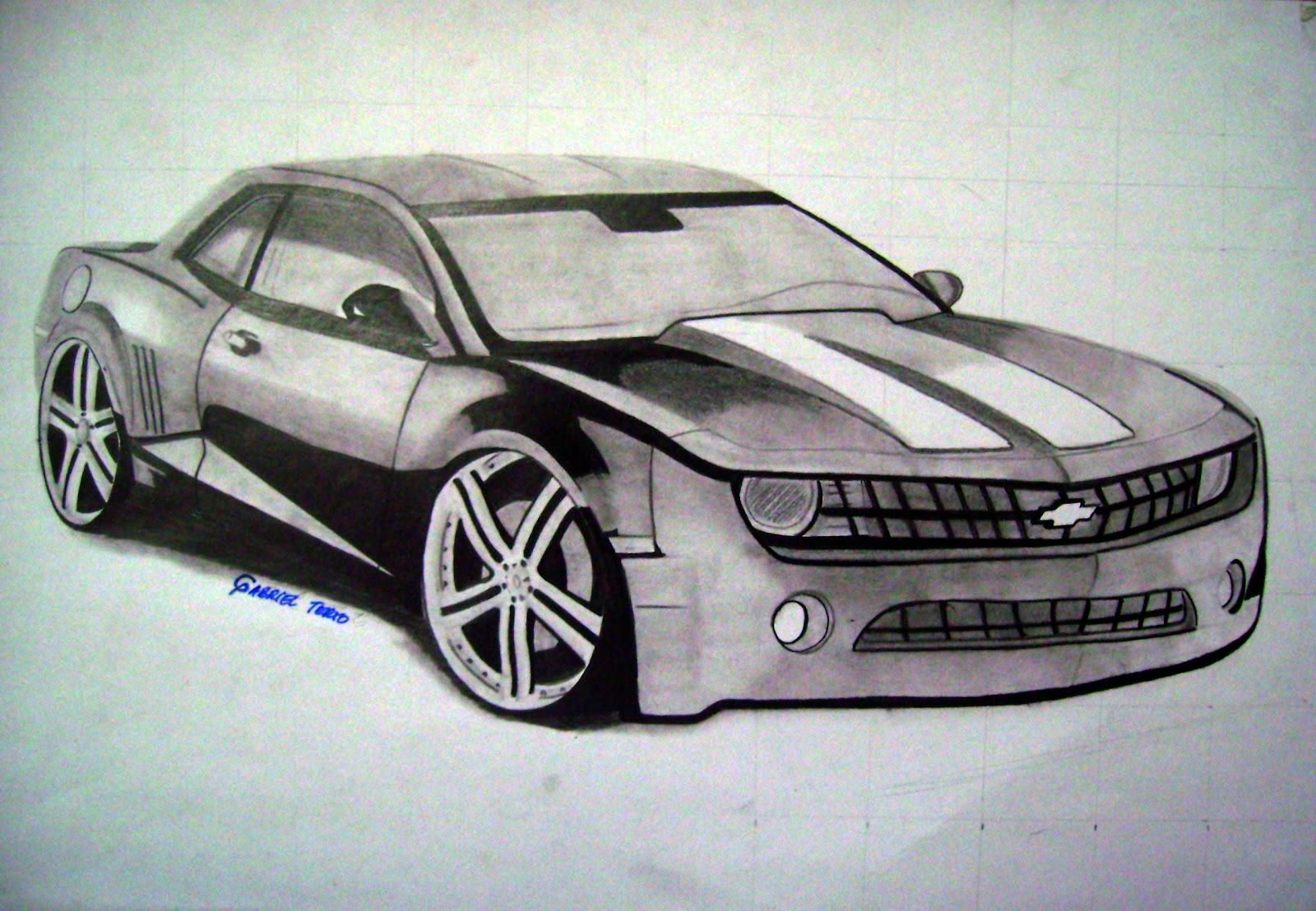 desenhos de carros tunados desenho de carro tunado camaro
