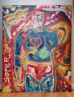 "Pintura ""Sublime Hero"" do Sylvester Stallone"