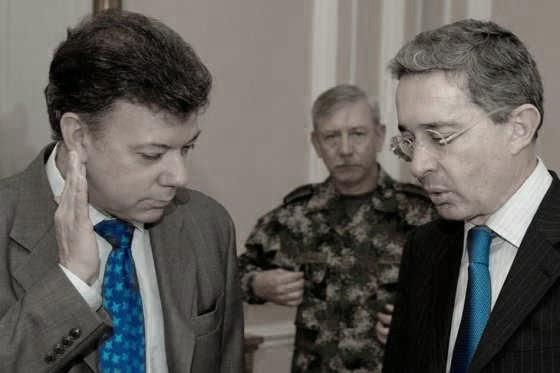 Santos y Uribe elecciones