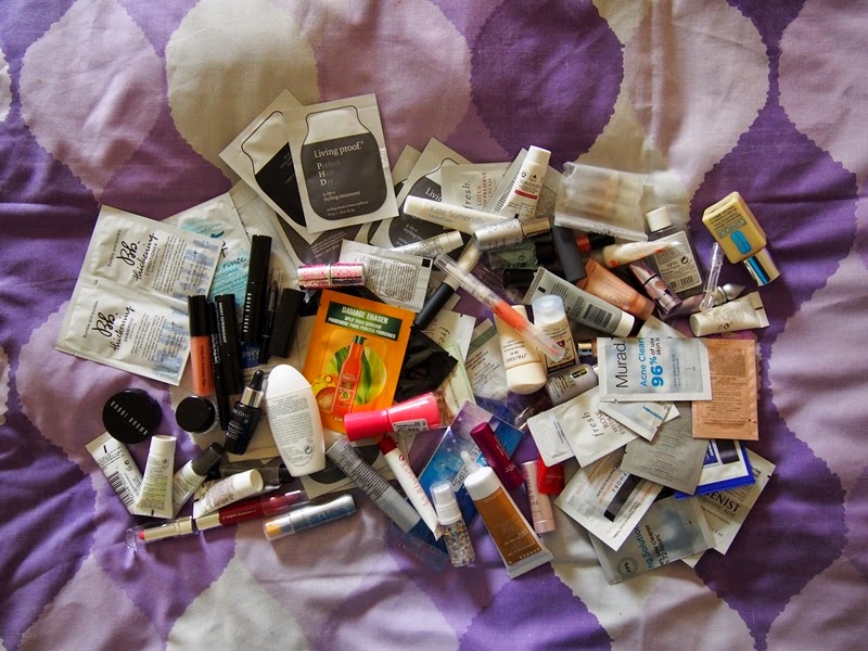 sample beauty products