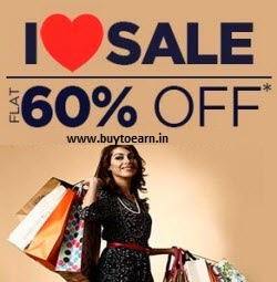 Myntra : Clothing, Footwears & Accessories Minimum 60% off + 35% off on Rs. 999, 37% off on Rs. 1499