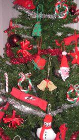 Mini Cotton Christmas Trees Decor