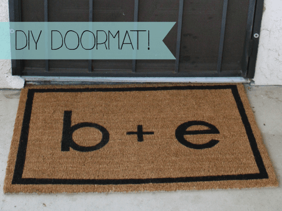Just A Darling Life Diy Personalized Doormat