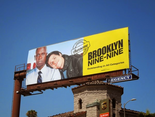 Brooklyn Nine-Nine Certified Awesome Emmy 2014 billboard