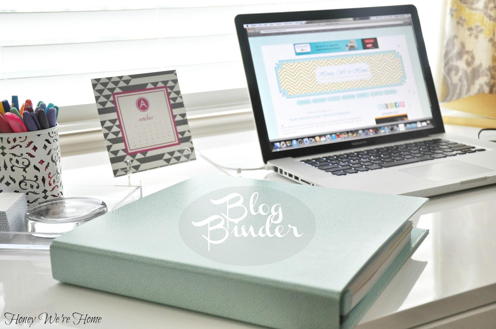 Blog Organization Binder   Honey We\'re Home