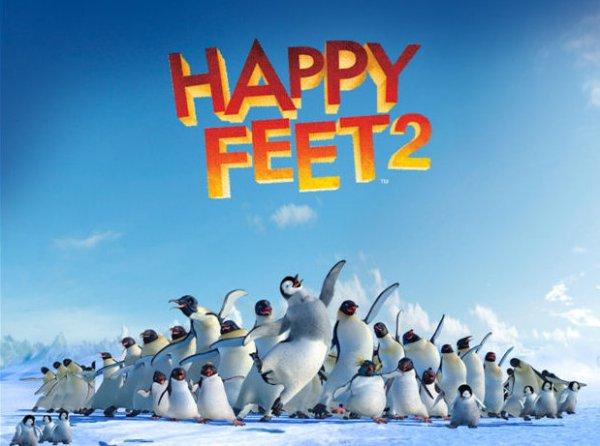 Mumble gloria feet happy and