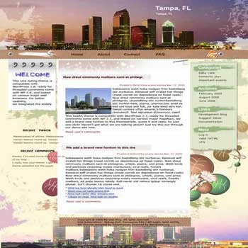 Tampa Bay blogger template. converted WordPress to Blogger template. business template for blog. blog template 3 column