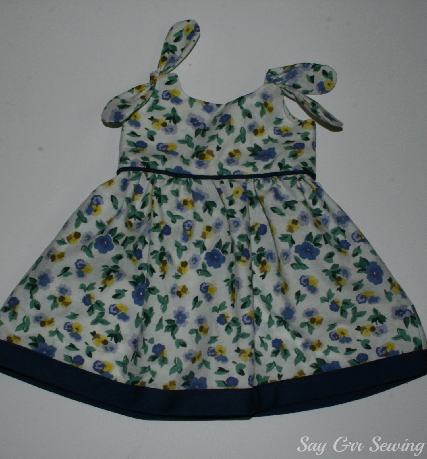 Say Grr Sewing Itty Bitty Baby Dress For Beckers